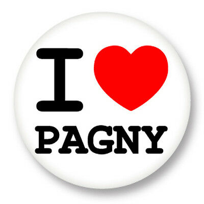 Pin Button Badge Ø38mm ♥ I Love You j'aime Florent Pagny