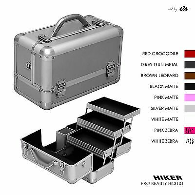 Professional Cosmetic Beauty Train Case, Makeup Storage Organizer Box 3 Trays