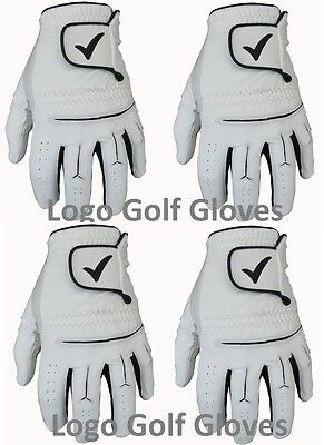 4 Golf Gloves Cabretta Leather Palm Tick Logo 5 Sizes Small Medium Large M/L XL