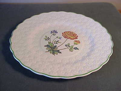 Vintage Copeland Spode Embossed Daisy Luncheon Plate, Artist Signed - Ranunculus