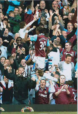 Frederic PIQUIONNE SIGNED COA Autograph 12x8 Photo AFTAL West Ham United