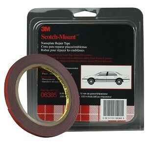"""3M 06385 1/4"""" x 5 yd GRAY Double Sided Attachment Tape, (Part No. 6385)"""
