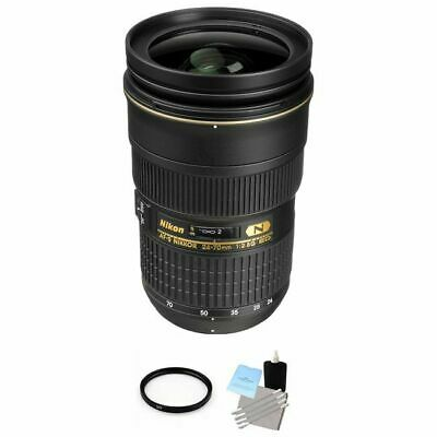 Nikon AF-S Nikkor 24-70mm f/2.8G ED Autofocus Lens + UV Filter & Cleaning Kit