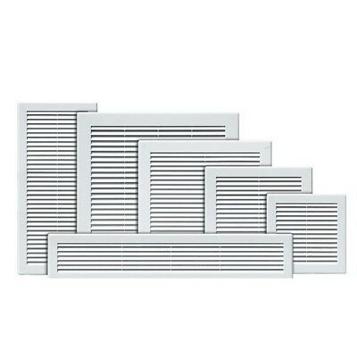 "Air Vent Grille White Wall Ducting Ventilation Cover Grid 4"" 6"" 8"" 10"" 12"" 14"""