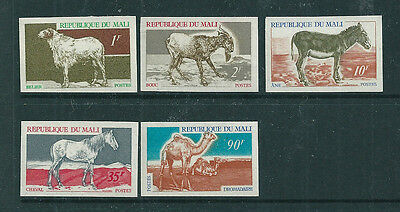 Mali 1969 Animals set of 5 IMPERFORATE unmounted mint. LIMITED EDITION