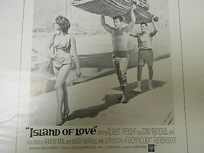 1963 ISLAND OF LOVE Comedy Press Book Kit Robert Preston TONY RANDALL FN+