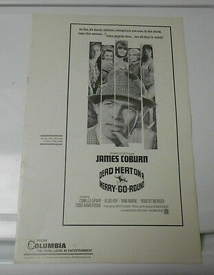 1966 DEAD HEAT ON A MERRY-GO-ROUND Press Book Kit JAMES COBURN FN+