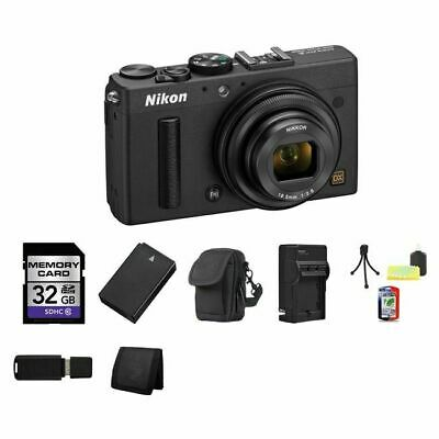Nikon Coolpix A Digital Camera - Black 32GB Package