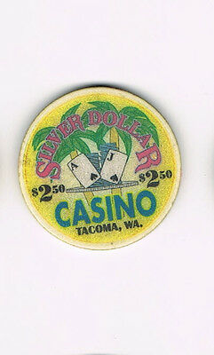 Tacoma, WA - Silver Dollar Casino - $2.50 Casino Chip - Two Dollars Fifty Cents