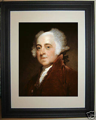 John Adams 2nd USA U.S. President Framed Photo Picture