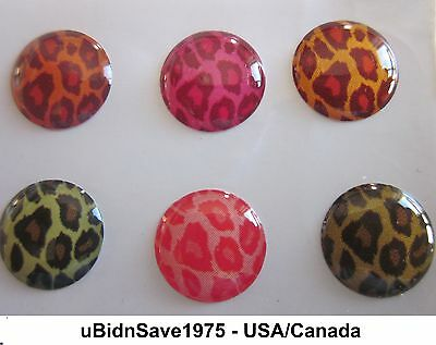 6 Colorful Leopard Home Button Stickers for Apple iPhone iPad Air Mini iPod