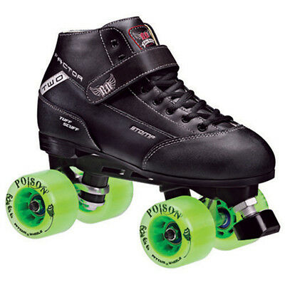 Roller Derby Skates - Stomp Factor 2 Atom Poison Men Size 4-12