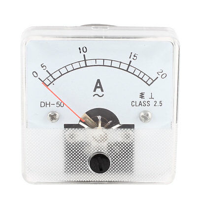 DH-50 AC 0-20A Fine Tuning Dial Current Test Ampere Meter Ammeter