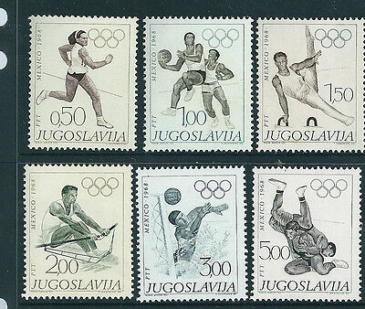 Yugoslavia 1968 Summer Olympics set of 6 unmounted mint.