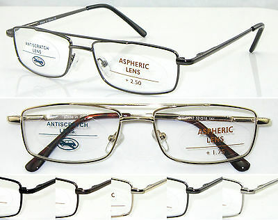 L442 Superb Quality Reading Glasses/ Spring Hinges & Double Bridge Classic Style