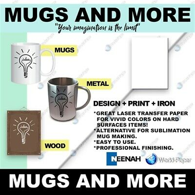 Mugs n' More Heat Transfer Paper mug cup press machine 50 Pack :)