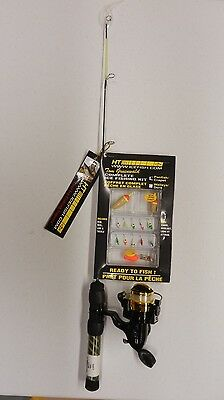 "HT 24"" Light Tom Gruenwald Complete Ice Fishing Kit; Rod/Reel Combo #ICL-24PK"