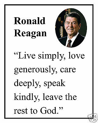 RONALD REAGAN Love Generously Famous Quote 60 X 60 Photo Picture Extraordinary Ronald Reagan Love Quotes