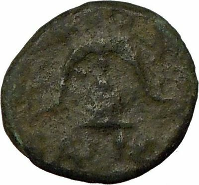 DEMETRIUS I Poliorcetes 294BC Ancient Greek Coin HELMET SHIELD   i17904