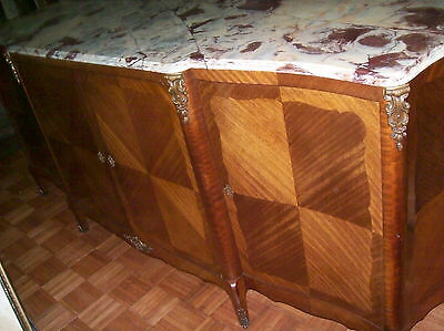 Antique French Buffet , Credenza,  Side Board with a beautiful  Marble top