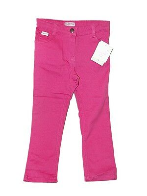 CUTE NEW GIRLS SUGAR PINK BRIGHT PINK COTTON TROUSERS / JEANS ~ Age 4/5 years