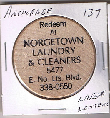 Alaska Wooden Token - ANCHORAGE - Norgetown Laundry