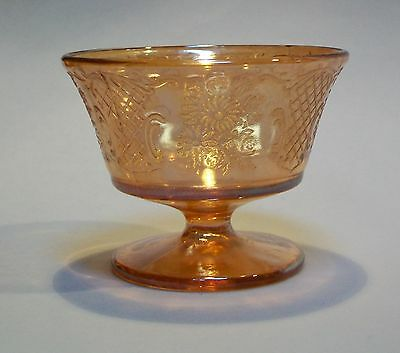 """Federal Carnival Iridescent Normandie Marigold Champagne Sherbet Glass s 2 3/4"""""""
