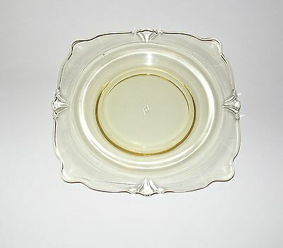 """Heisey Yellow Sahara Empress Bread & Square Butter Plate s 6 1/4"""""""