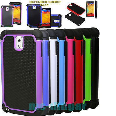 Hybrid Rugged Impact Rubber PC Hard Case Cover for Samsung Galaxy Note 3 N9005