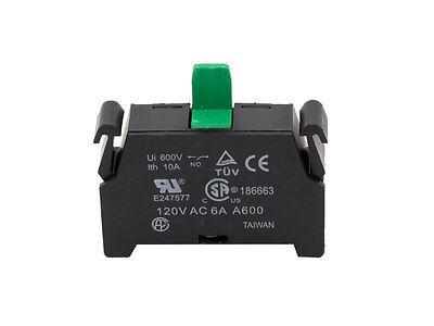 Normally Open Contact Block for ATI Switches 10A 600V 1NO