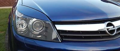 Vauxhall ASTRA H mk5 EYEBROWS genuine ABS plastic 04-09 headlights spoiler