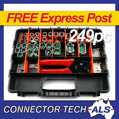 Deutsch DT Connector Plug Kit 249pc With Crimp Tool Automotive #DT-KIT3-TR