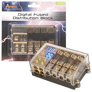 Digital Fuse Distribution Block Circuit Breaker Fused 0Ga 4Ga In - 8Ga Out Ap-D4
