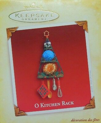O Kitchen Rack~Kitchen Utensils~Pots and Pans~Hallmark Keepsake~2005~MIB