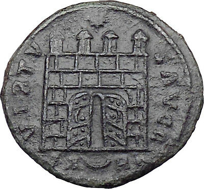 CONSTANTINE I the GREAT 325AD OPEN DOOR Camp gate Rare Roman Coin  i29420