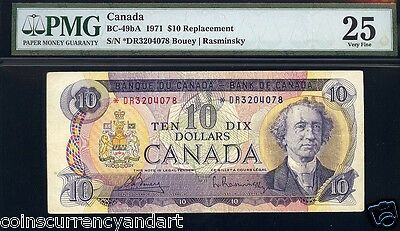 1971 Bank of Canada $10 ASTERISK REPLACEMENT  PMG GRADED VF25 Beautiful design