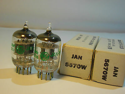VALVOLE ELECTRON TUBES GENERAL ELECTRIC MATCHED PAIR 5670 2C51 6N3P