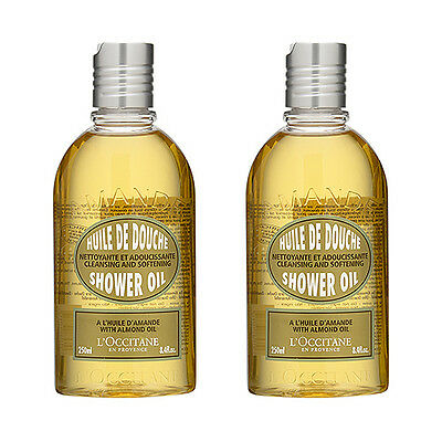 2 PCS L'Occitane Almond Shower Oil 250ml Body Bath Cleansers #660_2