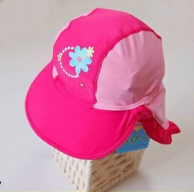 NEW Lycra Sun Surf Hat Toddler Kids Girls Child Cap Beach Swimming Pool 2 Sizes