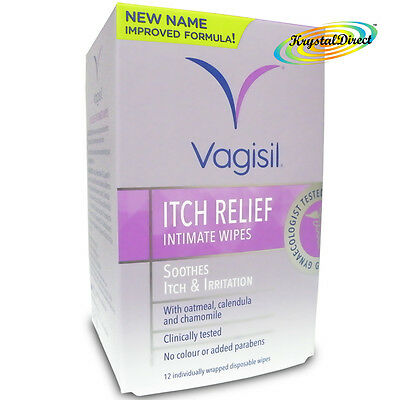 Vagisil Itch Relief Intimate Wipes 12  Soothes Itch and Irritation