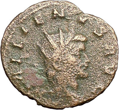 GALLIENUS son of Valerian I 267AD  Rare Ancient  Roman Coin Antelope  i27426