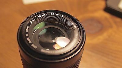 Sigma 70-210mm F4-5.6 UC Multi-Coated lens made in Japan