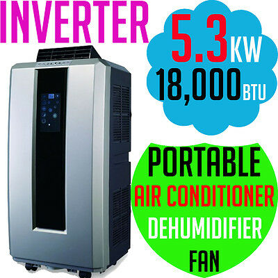 JHS8 Portable Refrigerated Air Conditioner INVERTER 5.3KW Cooling 18000BTU NEW