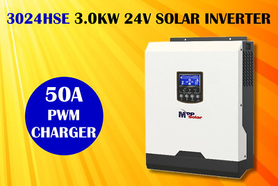 3kva 2400w 24v pure sine wave off grid solar inverter 50A pwm solar charger