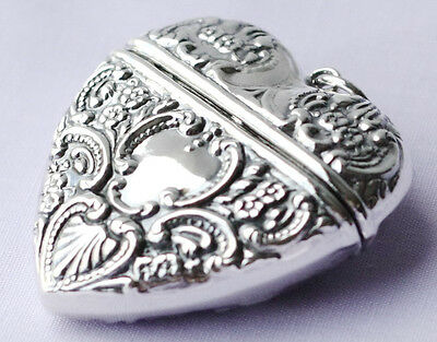 Authentic 925 Sterling Silver Heart Box Pendant Locket
