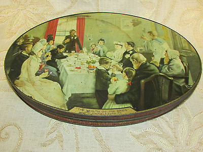 Large Vintage Collectable 'The Health Of The Bridge ' Biscuits Tin Box