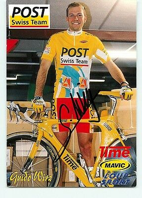 Guido WIRZ, Autographe manuscrit. cycliste, cyclisme. Post Swiss Team 1998