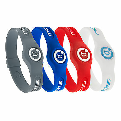 Bioflow Sport Magnetic Silicone Wristband - Blue, Grey, Red, White