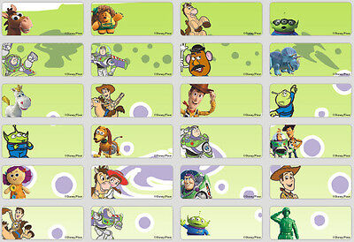 128 Mini Toy Story Pencil Name Label Sticker Stationery Pen Personalised 22x9mm