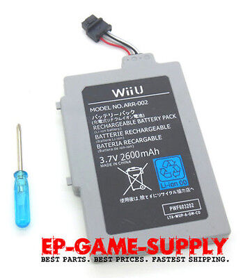 Extended Battery Pack for Nintendo Wii U Gamepad 2600mAh 3.7V Rechargeable